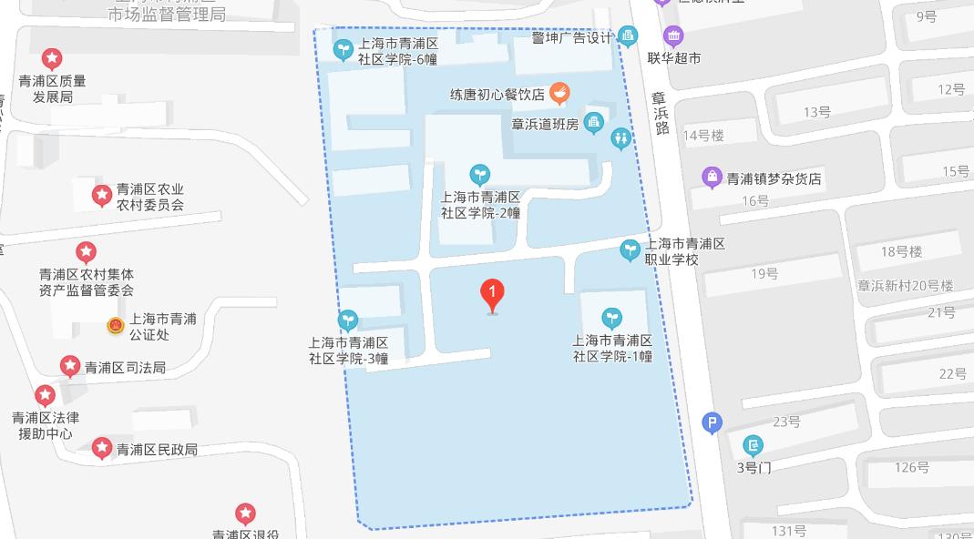 上海开放大学青浦分校地图